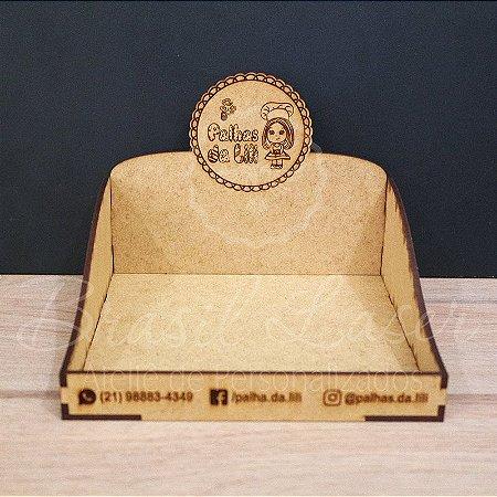 5Expositores de Brownie / Alfajor / Palha Italiana / Cake / Pão de Mel com 17x17cm em Mdf com logomarca gravada
