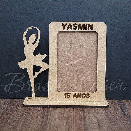 Porta Retrato Bailarina para 15 anos Personalizado (Opções de cores dentro do anuncio)