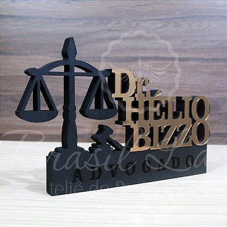 Decoração para Advogado / Advogada / Formatura de Direito com Nome Personalizado - **Cor e tamanho são selecionados dentro do anuncio para ver cada preço**