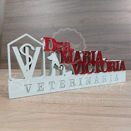 Decoração para Veterinário / Veterinária / Formatura de Medicina Veterinária com Nome Personalizado - **Cor e tamanho são selecionados dentro do anuncio para ver cada preço**