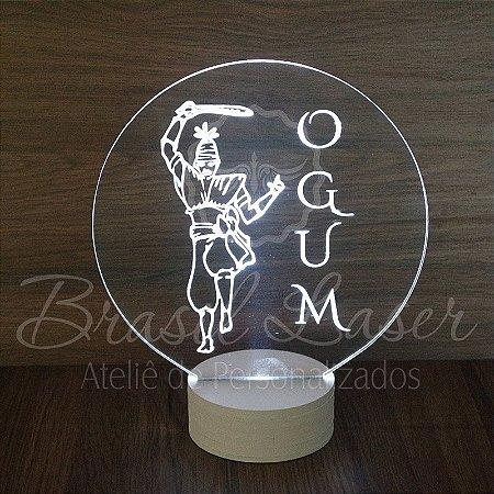 Topo de Led Premium OGUM com Acrílico Grosso Iluminado com Nome Personalizado - Veja opções de Tamanho no Anúncio