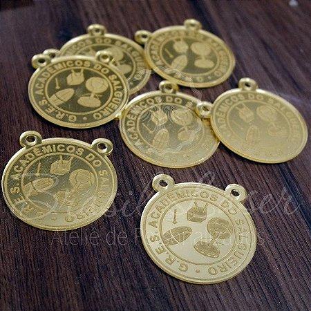 1 Medalhinha Salgueiro para lembrancinha / Bem Casado / Bem Vivido em Acrílico - Várias Cores - Personalizado - Ver opções dentro do anúncio - Quantidade Mínima : 20 unidades iguais