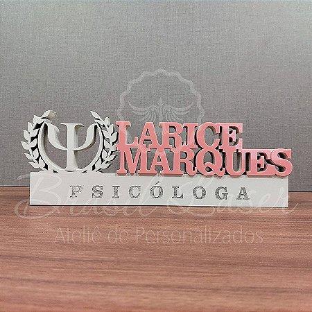 Decoração para Psicólogo / Formatura de Psicologia com Nome Personalizado - **Cor e tamanho são selecionados dentro do anuncio para ver cada preço**