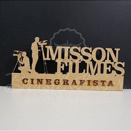 Decoração para Cinegrafista / Formatura de Cinegrafia com Nome Personalizado - **Cor e tamanho são selecionados dentro do anuncio para ver cada preço**