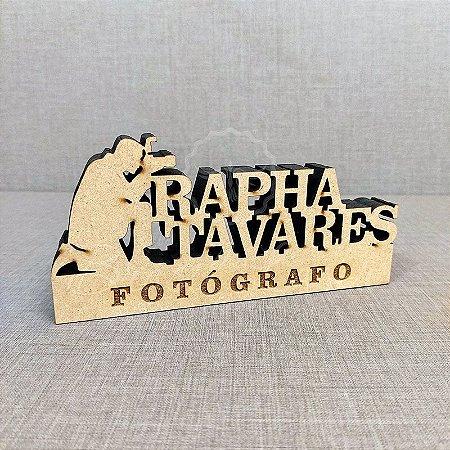 Decoração para Fotógrafo / Fotografia / Fotógrafa com Nome Personalizado - **Cor e tamanho são selecionados dentro do anuncio para ver cada preço**