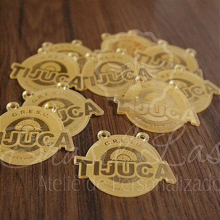 1 Medalhinha Tijuca para lembrancinha / Bem Casado / Bem Vivido em Acrílico - Várias Cores - Personalizado - Ver opções dentro do anúncio - Quantidade Mínima : 20 unidades iguais