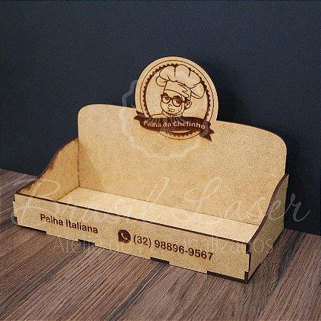 10 Expositores de Brownie com 27x09cm em Mdf com logomarca gravada