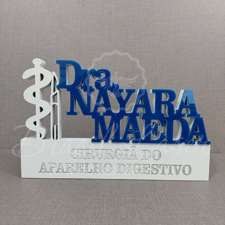 Decoração para Médico Cirurgião / Cirurgiã / Formatura de Medicina com Nome Personalizado - **Cor e tamanho são selecionados dentro do anuncio para ver cada preço**