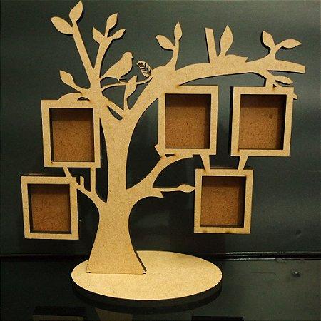 Porta Retrato Árvore para 5 Fotos Sem Personalização
