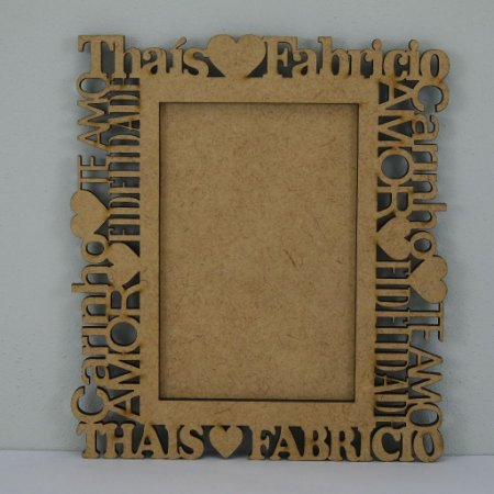 Porta Retrato Gigante Personalizado com nome do Casal e com Palavras de Carinho