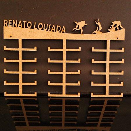 Porta Medalhas Judô Personalizado Tamanho 60cmx40cm Aprox.60 Medalhas