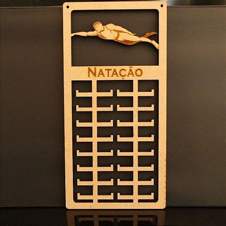 Novo Porta Medalhas Natação Personalizado Tamanho 29cmx60cm Aprox.80 Medalhas