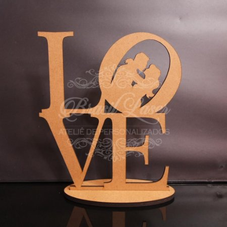 Enfeite de Mesa LOVE Mdf 6mm