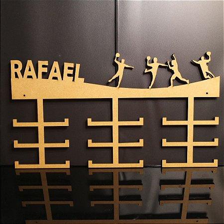 Porta Medalhas HANDEBOL Personalizado Tamanho 45cmx23,7cm Aprox. 36 Medalhas