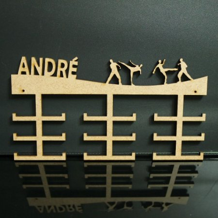 Porta Medalhas TAEKWONDO Personalizado Tamanho 45cmx23,7cm Aprox. 36 Medalhas