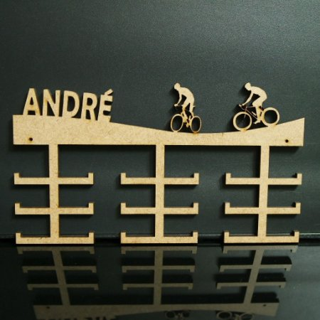 Porta Medalhas Ciclismo Personalizado Tamanho 45cmx23,7cm Aprox. 36 Medalhas