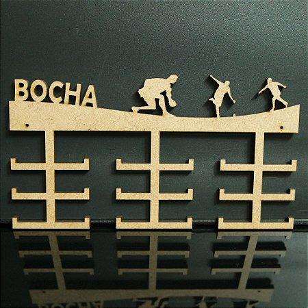 Porta Medalhas BOCHA Personalizado Tamanho 45cmx23,7cm Aprox. 36 Medalhas