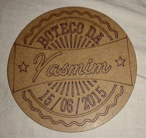 200 Porta Copos BOTECO Cerveja Personalizado (Nome e Data)