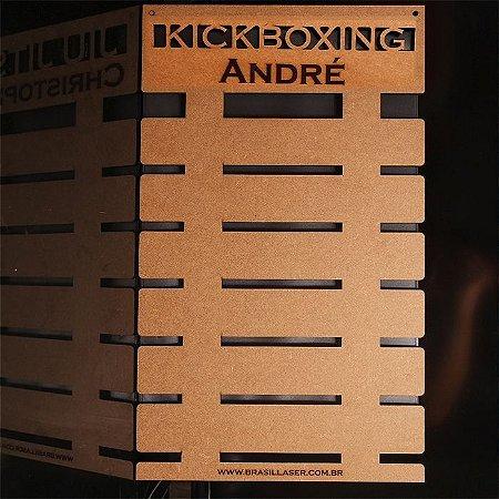 Porta Faixas KICKBOXING Personalizado Mdf Projeto Exclusivo De 3 a 10 Faixas