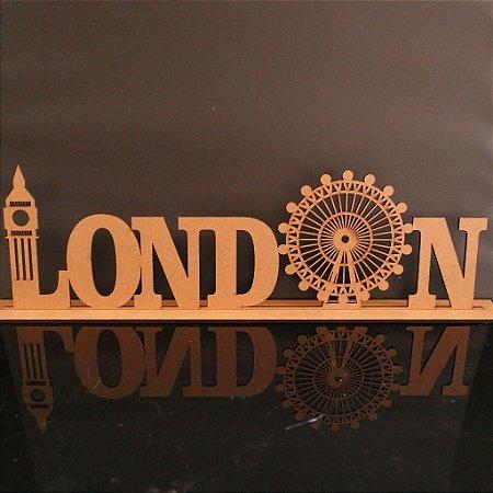 Nomes LONDRES com base em MDF 6mm Cortado a Laser - Tamanhos disponibilizados na opção do anúncio