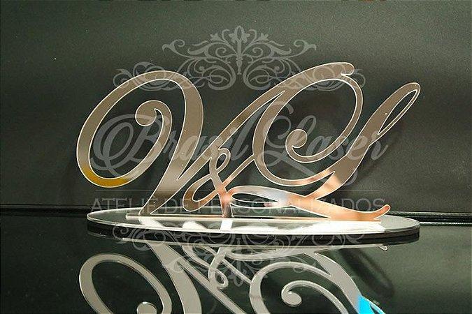 Topo De Bolo com 14cm (maior lado da peça) - Cor à Escolher
