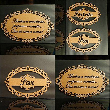 Kit 2 Placas de Cadeira + 2 Placas de Daminhas