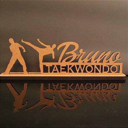 Decoração Esportiva com o Nome Personalizado c/ o Tema Taekwondo