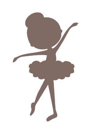 Silhueta De Bailarina Decorativo Em Mdf V 225 Rios Tamanhos