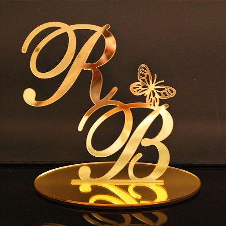 Topo De Bolo para Casamentos com 14cm (maior lado da peça) - Cor à Escolher