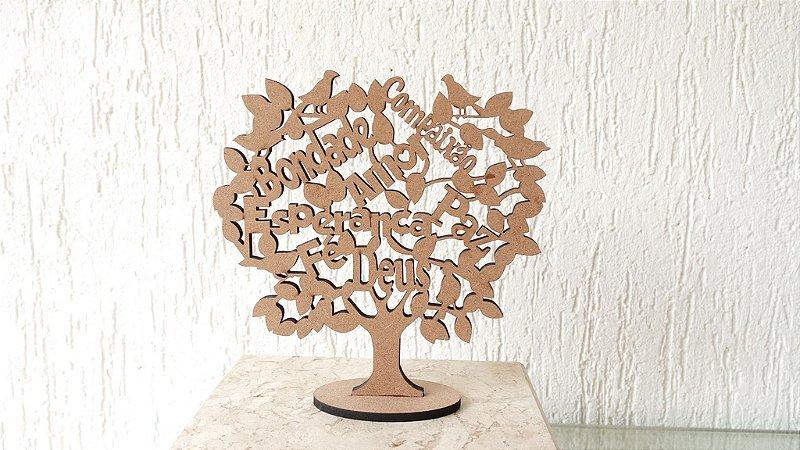 Árvore da Vida Com Palavras de Carinho e Amor 30cm Altura