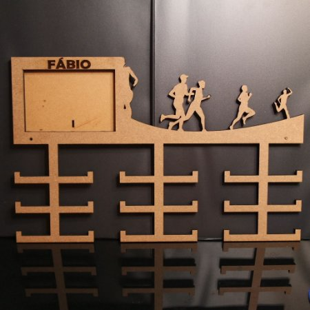 Porta Medalhas vários esportes Personalizado Com Foto Tamanho 45cmx25cm Aprox.36 Medalhas