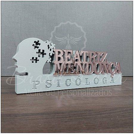 Decoração para Psicóloga / Psicólogo / Psicopedagoga com Nome Personalizado - **Cor e tamanho são selecionados dentro do anuncio para ver cada preço**