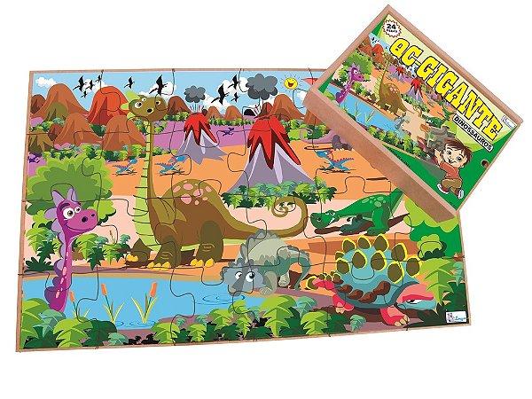 Quebra Cabeça Gigante Dinossauros - 12 pçs