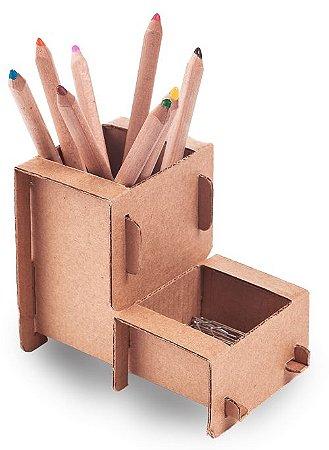 Porta Lápis em Papelão para Montar