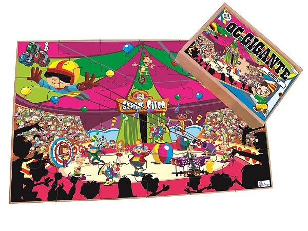 Quebra Cabeça Gigante Circo - 24 pçs