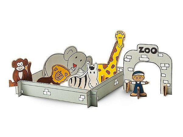 Zoológico de Papelão para Montar
