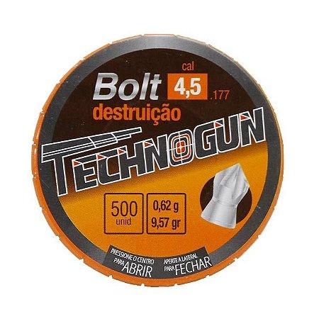 CHUMBINHO DE DESTRUIÇÃO BOLT 4,5MM 500PCS LATA TECHNOGUM