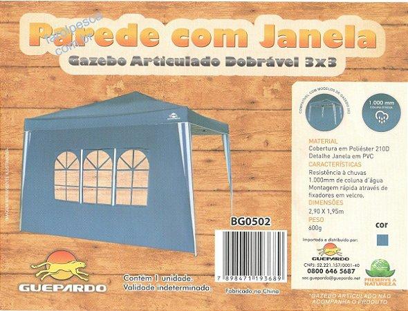 PAREDE COM JANELA P/ GAZEBO GUEPARDO