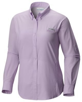 CAMISA M/L TAMIAMI  PHANTOM PURPLE M FL7278 COLUMBIA