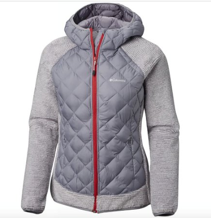 JAQUETA TECHY HYBRID FLEECE WHITE STRIPE ASTRAL FEMININO EL1031 COLUMBIA