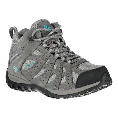 BOTA REDMOND MID WATERPROOF LIGHT GREY SKY BLUE FEMININO BL3946 COLUMBIA