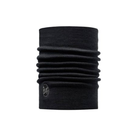 BANDANA HEAVYWEIGHT MERINO WOOL SOLID BLACK BUFF
