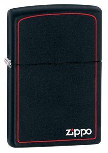 ISQUEIRO CLASSIC BLACK AND RED LOGO ZIPPO