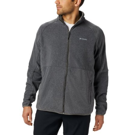 JAQUETA FLEECE BASIN TRAIL FULL ZIP CHARCOAL HEATHER MASCULINO AM0233030 COLUMBIA