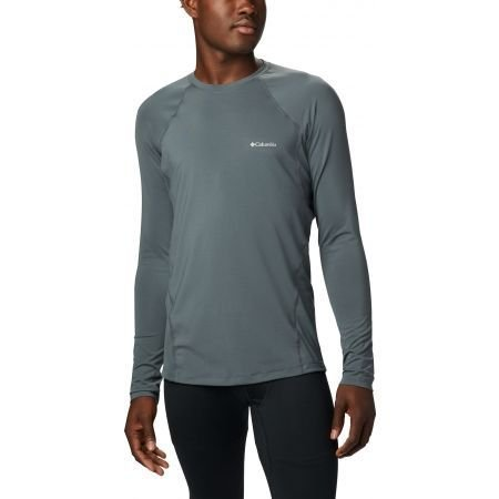 BLUSA 2A PELE MIDWEIGHT STRETCH LONG SLEEVE TOP GRAPHITE MASCULINO AM6323057 COLUMBIA