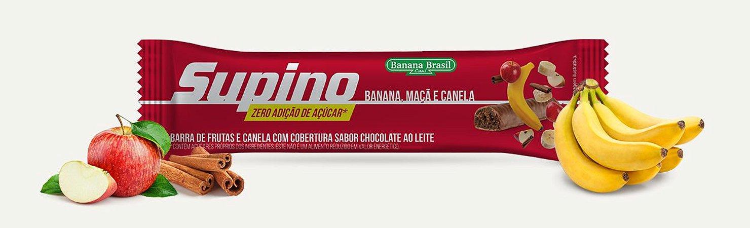 BARRA DE CEREAL SUPINO ZERO MACA E CANELA 24G BANANA BRASIL