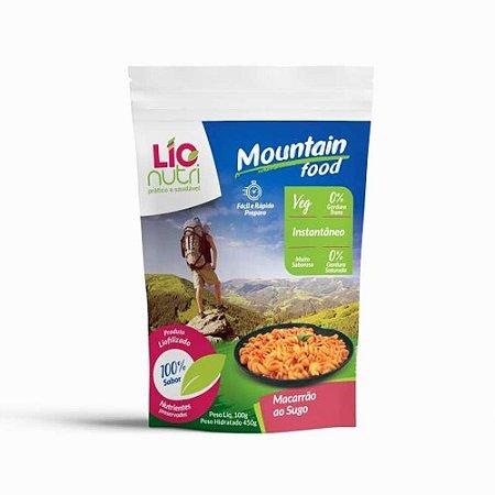 ALIMENTO LIOFILIZADO MACARRAO AO SUGO MOUNTAIN FOOD LIONUTRI