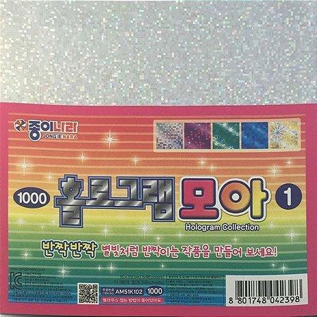Papel P/ Origami 15x15cm Face Única Hologram Collection 1 AM51K102 (5fls)