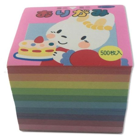 Papel para Origami 4x4cm Lisa Face Única 10 Cores No. 20-1737 (500fls)