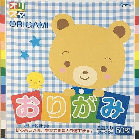 Papel P/ Origami 15x15cm Liso Face Única 16 Cores S-202 (50fls)